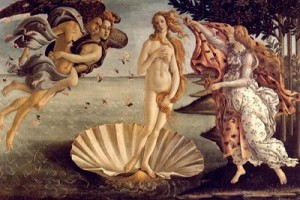 """Pintura del maestro Botticelli """"El nacimiento de Venus"""" 2"""