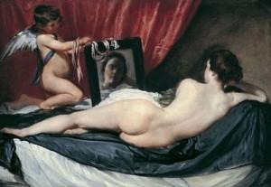 "Pintura del maestro Velázquez ""La Venus del espejo"" 1"